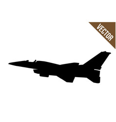 fighter jet f-16 silhouette vector image