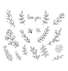 Flourish ornate decoration ink calligraphy style vector image