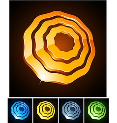 Flower vibrant emblems vector image