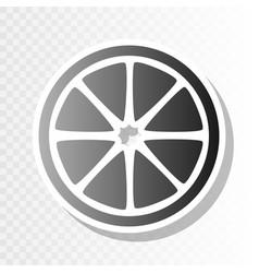 fruits lemon sign new year blackish icon vector image