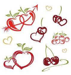 Fruits raw food vector