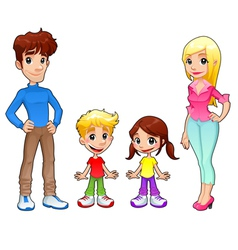 Funny family vector
