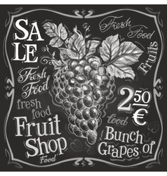 Grapes logo design template fresh fruit vector