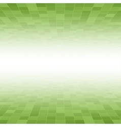 Green Mosaic Tile Square Background Perspective vector image