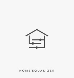 home equalizer template vector image
