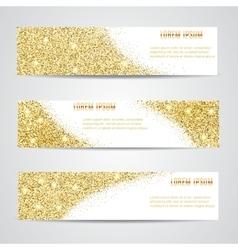 Horizontal Gold Banners Set vector image