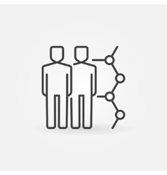 Human cloning linear icon vector