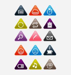 icons set and web analytics icons set vector image