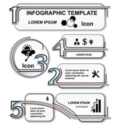 Infographic template set elements vector