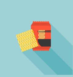 Instant noodle icon vector