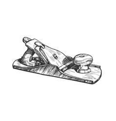 jack-plane hand industry instrument closeup vector image