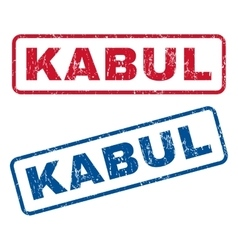 Kabul rubber stamps vector