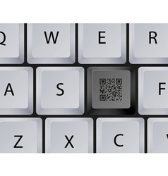 Keyboard QR Code button vector