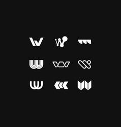 logo letter w vector image