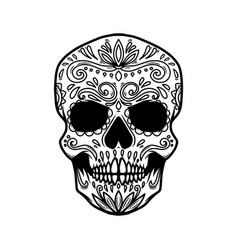 mexican sugar skull design element for logo label vector image