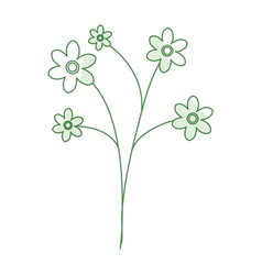 naturals flowers tattoos vector image