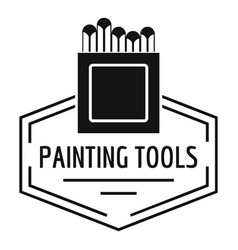 painting tool logo simple black style vector image