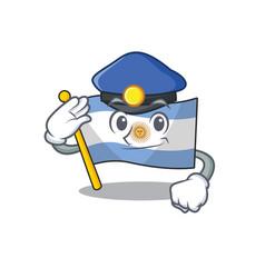 Police flag argentina cartoon shaped mascot vector