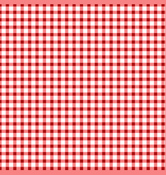 red gingham pattern background vector image