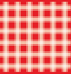 Red gingham pattern geometric background vector