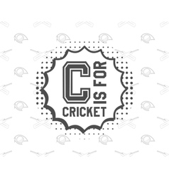 Retro cricket club emblem design logo icon vector image