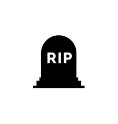 Rip grave icon tombstone gravestone death vector