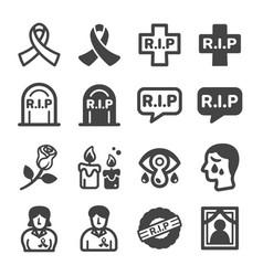 rip icon vector image