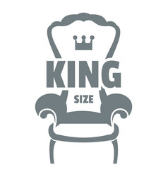 royal armchair logo simple gray style vector image