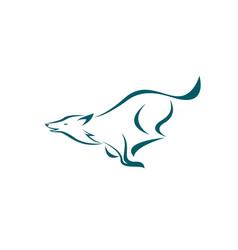 running dog design on white background easy vector image