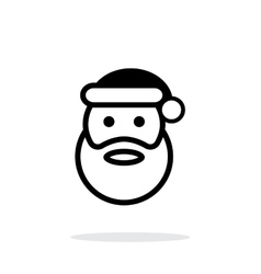Santa Claus icon on white background vector image