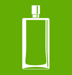 Scent bottle icon green vector