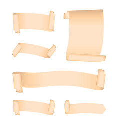 set of cream banners vector image