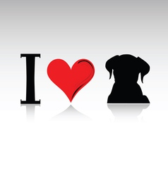 sign i love dog vector image