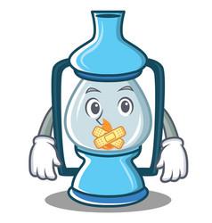 Silent lantern character cartoon style vector