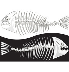 skeleton fish vector image