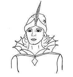 Sketch of fairy-tale hero vector