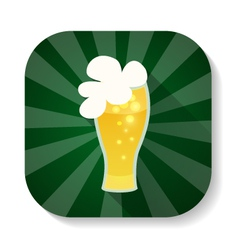 St Patrick Day beer glass icon vector