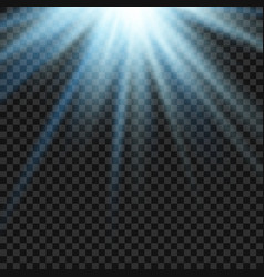 sun light lens blue flare template vector image