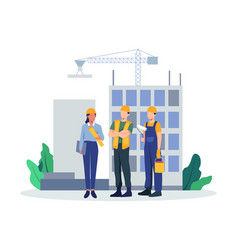 Team builders and industrial workers vector