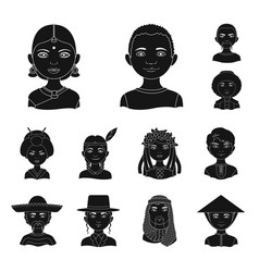 The human race black icons in set collection for vector