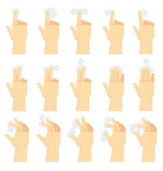 touch screen gestures finger tap swipe gesture vector image