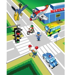 Town Traffic vector image