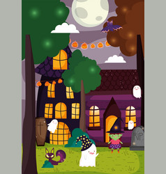 Trick or treat happy halloween vector