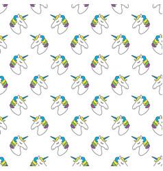 unicorn seamless pattern childish pattern for vector image