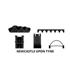 united kingdom newcastle upon tyne flat travel vector image