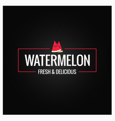 watermelon border logo on black background vector image