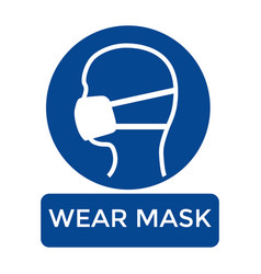 Wear mask graphic protect from covid 19 vector