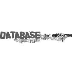 who s database are you in text word cloud concept vector image