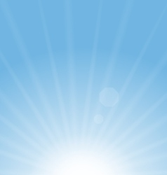 Abstract Blue Background Sun vector image vector image