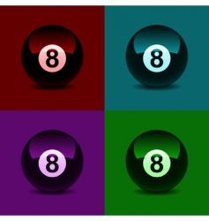 8 ball vector image